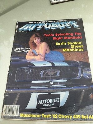 Vintage Autobuff Adult Mens Magazine Pin-Up July 1986 Hot Rod Muscle Car #25