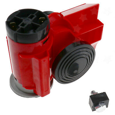 Motor Bike Air Horn Black 136dB 12 volt Loud