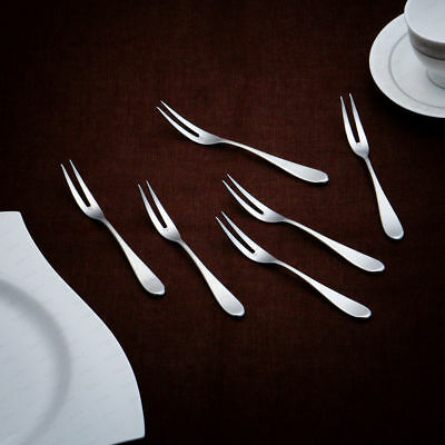 6 Piece Fruit Forks Stylish Stainless Steel Cutlery Tableware Dining Utensils