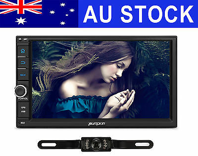 Android 7.1 2 DIN Car Stereo GPS 3G WIFI DAB+ Navigation Head Unit Free Camera