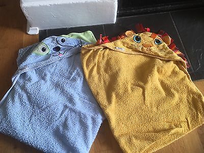 Two Hooded Unisex Towels For Baby