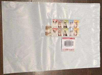 100 x 500g Prepaid $7.6 Parcel Post Satchels With Tracking 310x400mm / 240x320mm