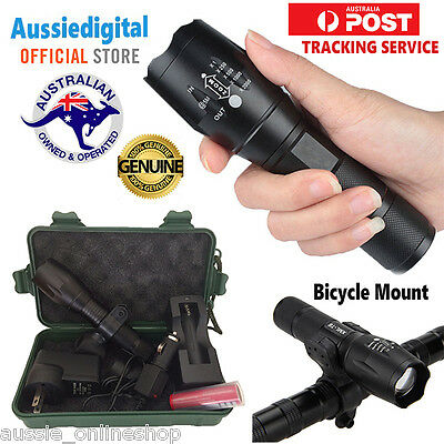Outdoor Handheld 6000ml Tourch Zoomable Flashlight+5Light Modes Adjustable Focus