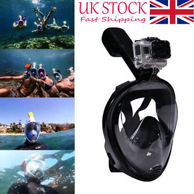Kids Adult Full Face Mask Surface Diving Snorkel Scuba for GoPro Swimming Tools