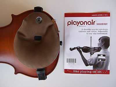 New brown playonair violin viola shoulder rest junior model #1614 fits all sizes