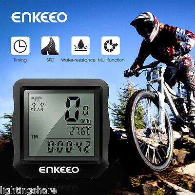 Waterproof Wired Bike Computer Speed Speedometer Bicycle Odometer Distance Time