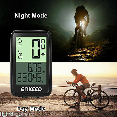 Wired Wireless Cycle Bike Bicycle Computer Speedometer Odometer Rechargeable AU
