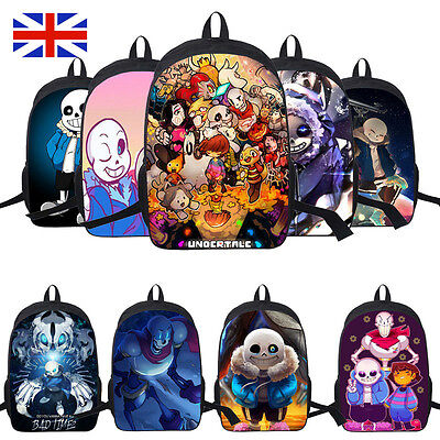 Undertale Sans Papyrus Multi-charact Casual Backpack Laptop Bag Easter Gift uk