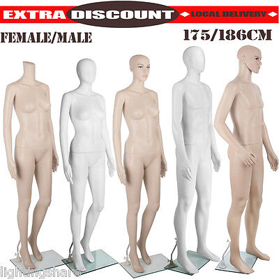 Full Body Male Female Mannequin Clothes Display Model Dressmaker Window Showcase