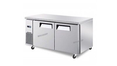 used 2-door commercial kitchen working bench freezer