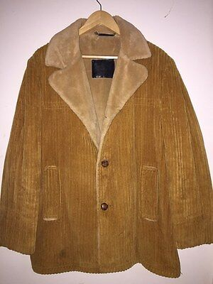 Vintage Retro 1970s Sackville Windbreaker USA Mens Corduroy Lumber Wool Coat