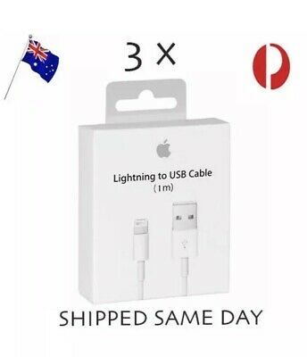 3x iPhone Charging Cord Lightning Cable Charger for Genuine Apple 5 6 7 S iPad