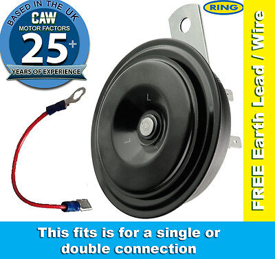 Horn Universal 12v Compact Disc Type Low Note Car Motorcycle  - Ring REH350