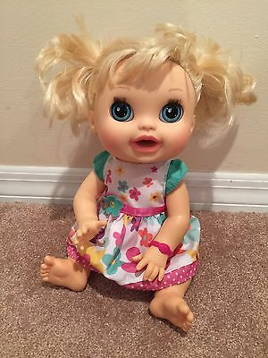 2012 Baby Alive Real Surprises Doll Blonde English & Spanish Dress Interactive
