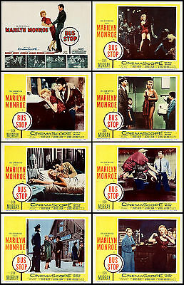 MARILYN MONROE & DON MURRAY In BUS STOP Full Set Of 8 Indiv 11x14 LC Prints 1956