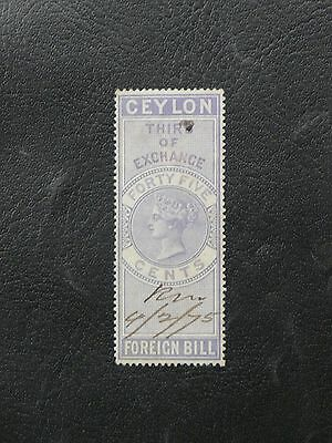 Timbres De Ceylan : Ceylon Foreign Bill - Forty Five Cents - Tres Bon Etat