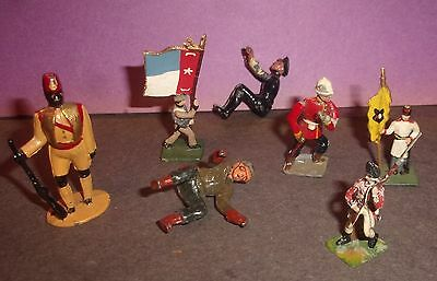 Lot of Vintage Miniature figures and other larger Figures