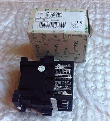 Moeller DILOOM Contactor 24V 50Hz AC-3:4KW New Boxed