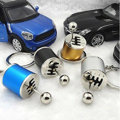 Keychain Ring Fob Creative Car 6Speed Gearbox Gear Shift Racing Tuning M#