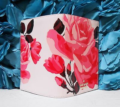 NWT Kate Spade Cameron Street Roses Passport Holder  Cover Pink Sand NEW $78