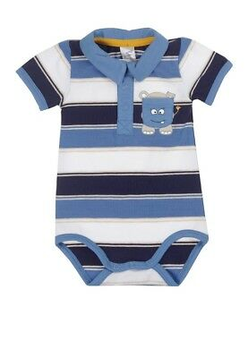 Kanz Boys Baby Body Suit with Collar Short Sleeved sz. 50 - 92