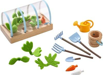 Haba Little Friends Dolls Play Set Vegetable Garden Dollhouse Accessories