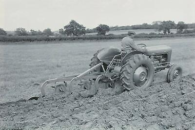 Massey Ferguson MF35 Tractor Ploughing Canvas Picture Print-