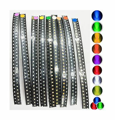 270 pcs SMD SMT 0805 Super Bright LED Blue Red White Green Orange Yellow NEW