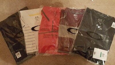 Brand New Oakley Golf Polos lot of 5 size large