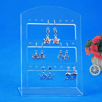 24 Holes Earring Jewelry Show Plastic Display Rack Stand Organizer Holder M#