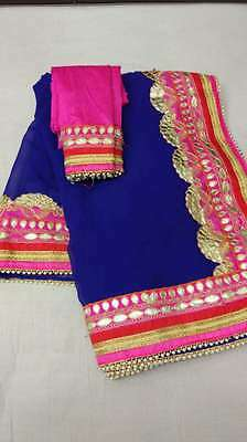 Indian Bollywood Style designer Saree sari wedding Party Wear ethnic Traditional