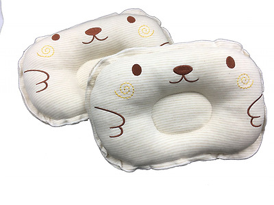 Infant Prevent Flat Head Support Cotton Embroidered Newborns Shaping Pillow Baby