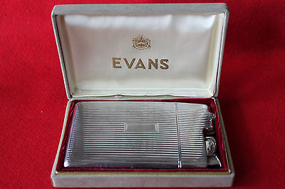 Vintage Evans Case And Lighter In Original Box