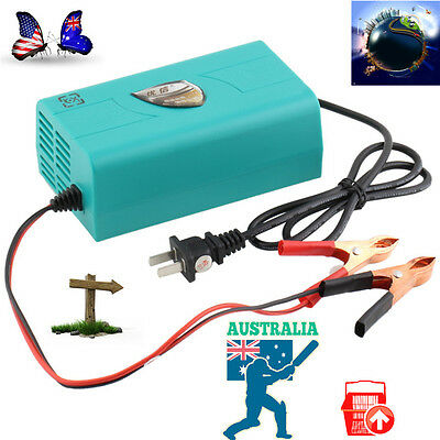 12V Battery Automatic Charger Motorcycle Car Boat Marine Maintainer Trickle M#