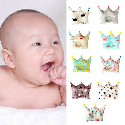 Newborn Baby Crown Pillow Sleeping Support Positioner Prevent Flat Head Cushion