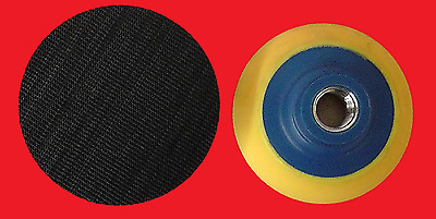 3 inch Plastic Foam backer pad with hook and loop and 5/8-11 female thread