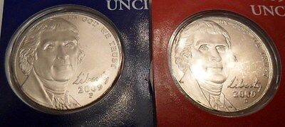 2009 P & D Nickel Set (2 Coins) *mint Cello*  **free Shipping**