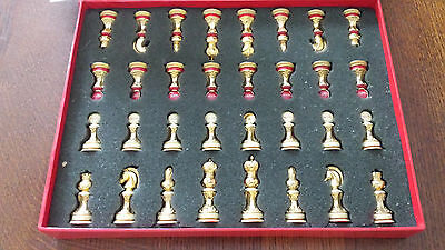 Coca Cola Franklin Mint Stained Glass Chess Set 24Kt