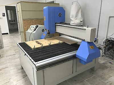 CNC Router Milling Machine Nice Cut NC-1212 By Jinan Less Than A Year Old. FIRM