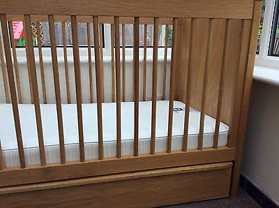 Marks and spencer Sonoma Oak cot bed and mattress