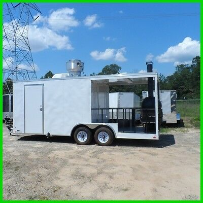 8.5 x 20 12ft inside enclosed cargo concession Bubba grill trailer 3 x 6 window