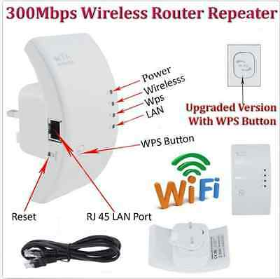 NEW 300Mbps Wireless N 802.11 AP Wifi Range Router Repeater Extender Booster M#