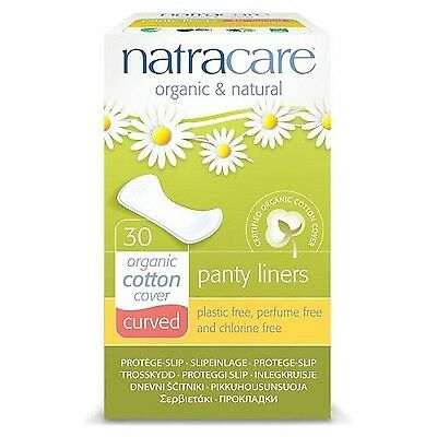 Natracare Organic Curved Panty Liners  -Pack of 30