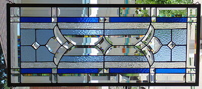 Stained Glass window Transom hanging 37 3/4 X 17""