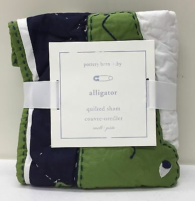 NEW Pottery Barn KIDS Alligator Madras Small Quilted Crib/Toddler Nursery Sham