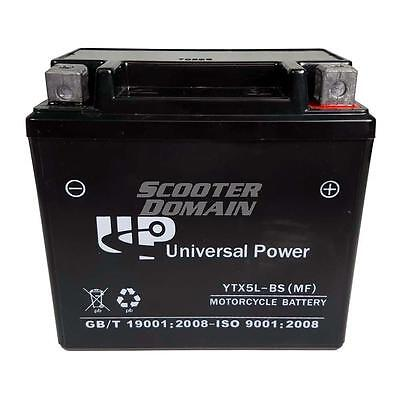 ATV / Scooter / Motorcycle Battery - YTX5L-BS (12 volt, 4 amp)