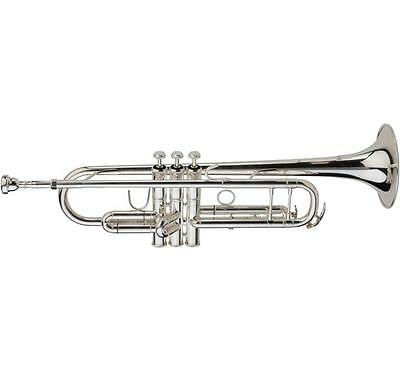 Ravel Paris RTR301S Intermediate Bb Trumpet w/ Case, Silver Plated