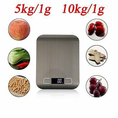 Kitchen Scale Stainless Steel Digital LCD Electronic Postal Food Weighing M#