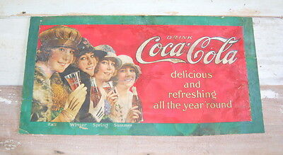 Original 1923 Coca Cola Trolley Sign, Streetcar, Coke Advertising, Cardboard