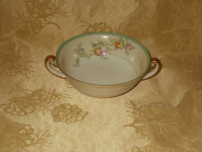 Cream Soup Bowl Meito Hand Painted China MEI230, Made in Japan